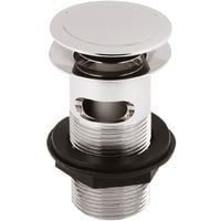 Premier Stainless Steel Push Button Basin Waste Slotted - ER07