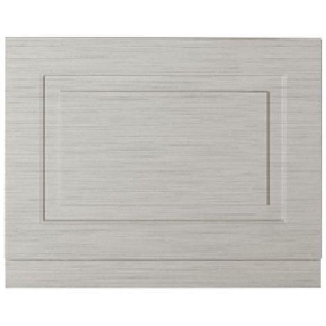 Premier Stone Grey Woodgrain York 750mm Bath End Panel