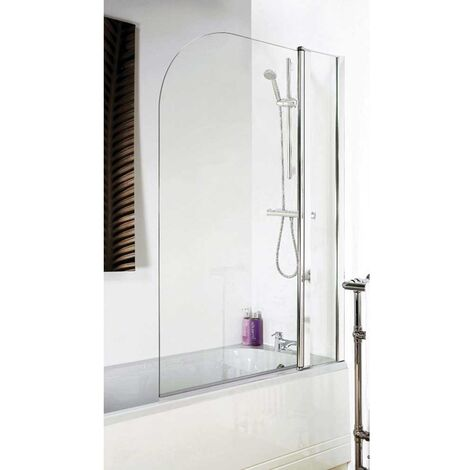 Premier Straight Bath Screen with Panel, 1435mm High x 985-1005mm Wide, 6mm Glass
