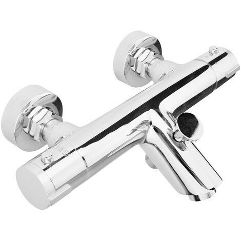 Premier Thermostatic Bath Shower Mixer Tap - Chrome