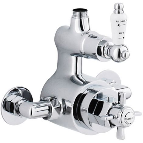 Premier Traditional Twin Exposed Thermostatic Shower Valve