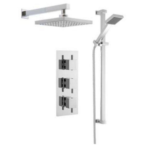 Premier Triple Concealed Thermostatic Shower Rail Kit Bundle 4