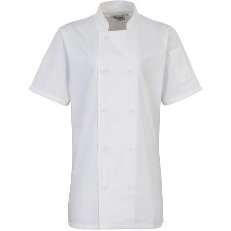 Premier Womens/Ladies Short Sleeve Chefs Jacket / Chefswear