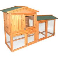 Premium 2 étages en bois en plein air cochon de cochon Rabbit Hutch House