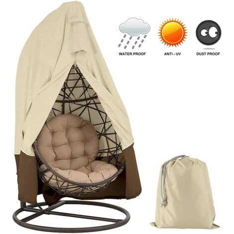 Premium 420D Oxford Hanging Seat Cover with Zipper Waterproof Winter Windproof for Garden Furniture