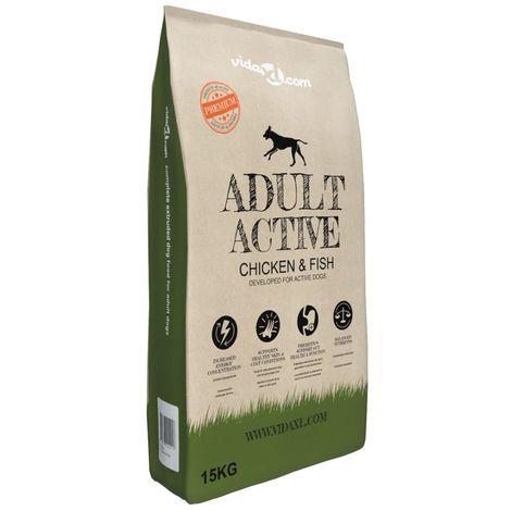 Premium Dry Dog Food Adult Active Chicken & Fish 15 kg