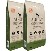 Premium Dry Dog Food Adult Sensitive Lamb & Rice 2 pcs 30 kg