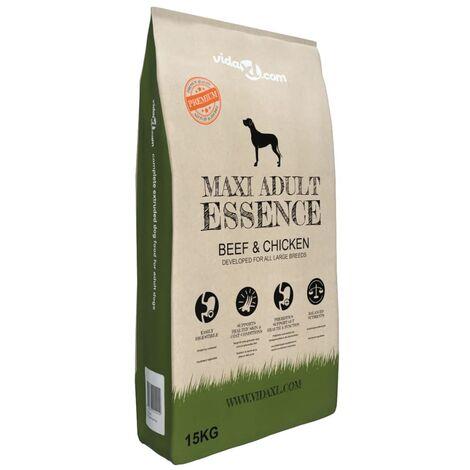 Premium Dry Dog Food Maxi Adult Essence Beef & Chicken 15 kg