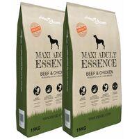 Premium Dry Dog Food Maxi Adult Essence Beef&Chicken 2pcs 30kg