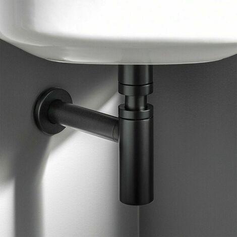 "main image of ""Premium Matte Black Universal Standard Bathroom Basin Sink Bottle Trap Waste"""