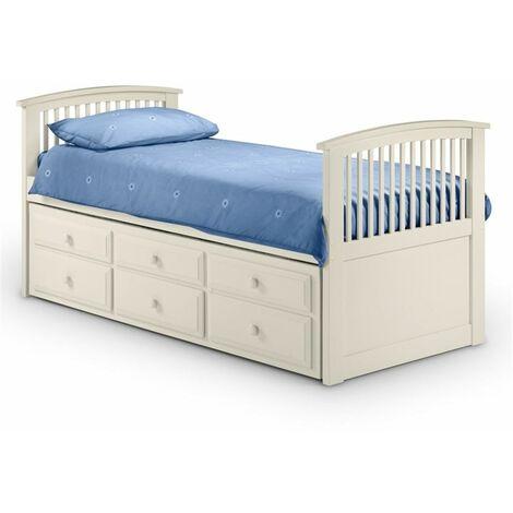 Premium Stone White Finish Cabin Bed 3ft (90cm) - Best Seller