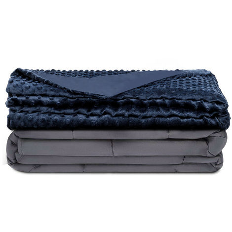 Premium Weighted Blanket Gravity Blankets With Cotton Cover Sensory Sleep Relax 10.3kg