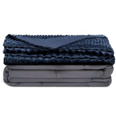 Premium Weighted Blanket Gravity Blankets With Cotton Cover Sensory Sleep Relax 15.57kg