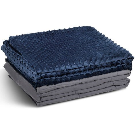 Premium Weighted Blanket Gravity Blankets With Cotton Cover Sensory Sleep Relax 8.2kg
