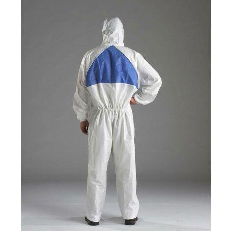 Prenda protección cómoda frente a polvo salpicaduras leves Blanco+Azul