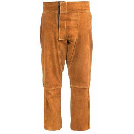 Prendas de Soldador Pantalón Cuero