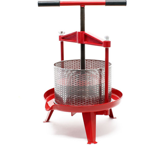 Prensa de fruta de acero inoxidable Capacidad de 14 litros Prensa de husillo para zumo vino sidra