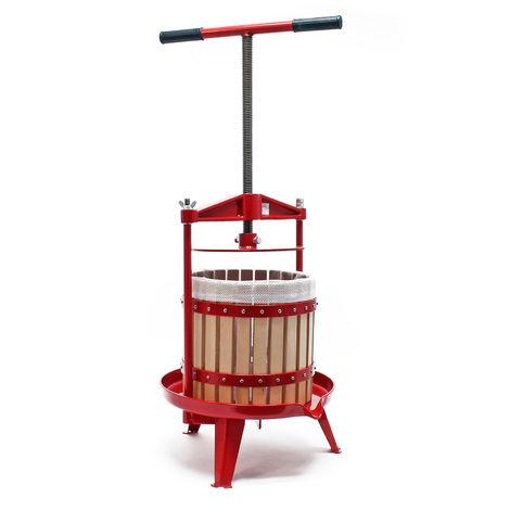 Prensa de fruta de madera Capacidad de 12 litros Prensa de husillo para zumo macerado vino sidra