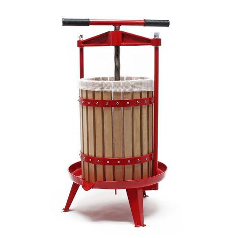Prensa de fruta de madera Capacidad de 18 litros Prensa de husillo para zumo macerado vino sidra