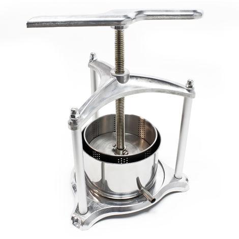 Prensa de frutas pequeña de aluminio 3L con cuba de acero inoxidable para vino
