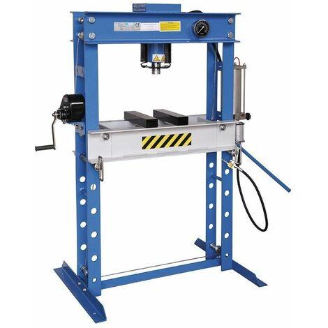 Prensa hidráulica manual y neumática 45000kg FERVI P001/45