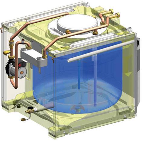 Préparateur d'eau chaude sanitaire échangeur à plaques 100l