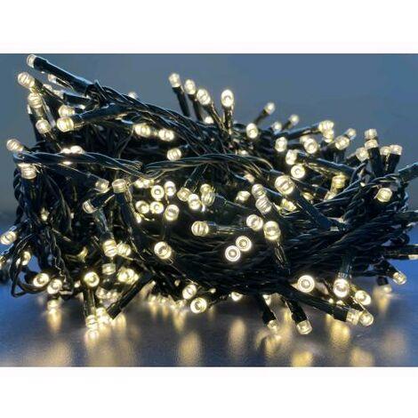 Luci Natale Esterno.Prequ Serie Luci Natale 180 Led Bianco Ghiaccio Giochi Luce 11 Mt Uso Esterno D1966