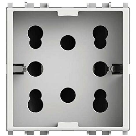 Presa Elettrica Universale Bipasso e Schuko 10/16A 2 moduli Side 4Box per Vimar Plana