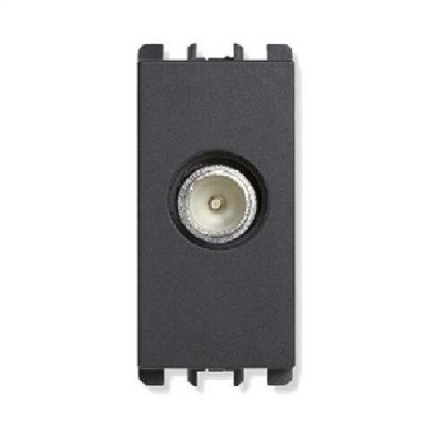 CLIFF ELETTRONICA PASSANTE ADATTATORE USB 2.0 B Presa a una presa in metallo Nero
