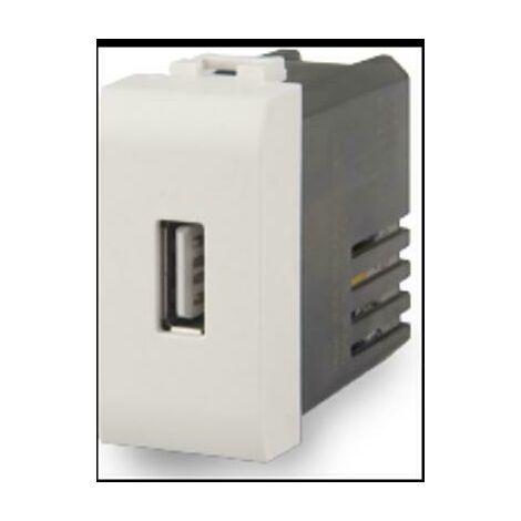 PRESA USB 2.1A COMPATIBILE CON BTICINO LIVINGLIGHT COLORE BIANCO 4B.N.USB