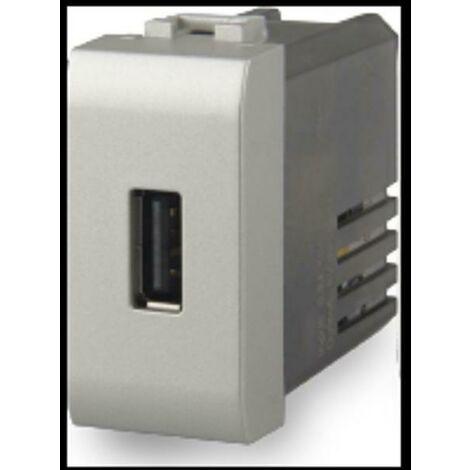 PRESA USB 2.1A COMPATIBILE CON BTICINO LIVINGLIGHT COLORE TECH 4B.NT.USB