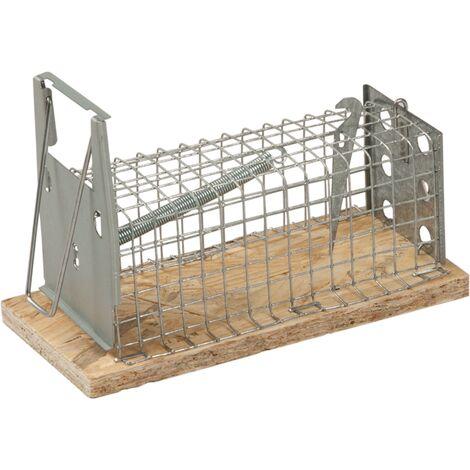 Présentoir de tapettes à souris cage rectangulaire 1 entrée 29 cm