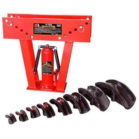 Presse à cintrer hydraulique - Pression 15 tonnes - avec 8 matrices