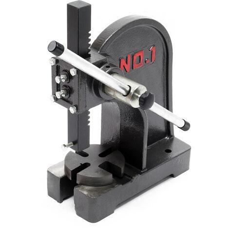 Presse à levier 1T Presse manuelle à crémaillère Outil d'atelier Fonte Force de compression 1000 kg