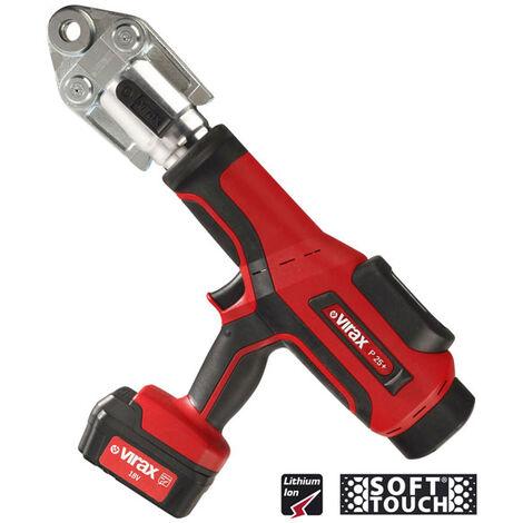 Presse à sertir électro-hydraulique VIRAX Viper® P25+ avec 1 batterie 18V 3AH + 1 chargeur - 253263