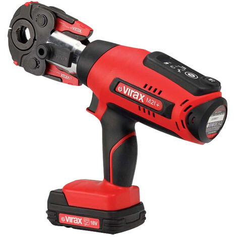 Presse à sertir électro-mécanique Viper® M21+ Virax + pince mère + 1 batterie + chargeur - 253532