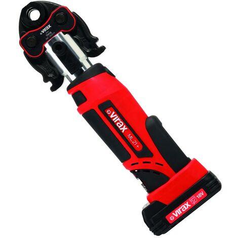 Presse à sertir électro-mécanique Viper® ML21+ 18V + 1 batterie et pince-mère VIRAX 253521 - 253527