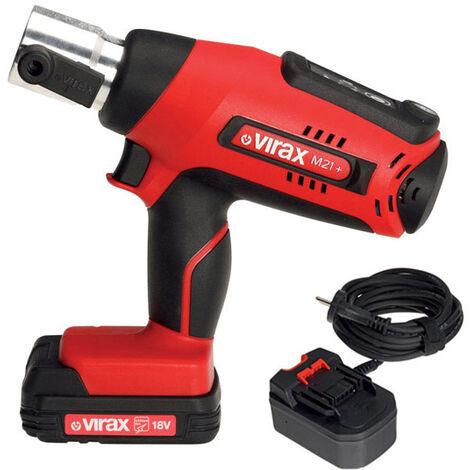 Presse à sertir électromécanique VIRAX Viper® M21+ avec adaptateur filaire - Sans pince-mère - 253501
