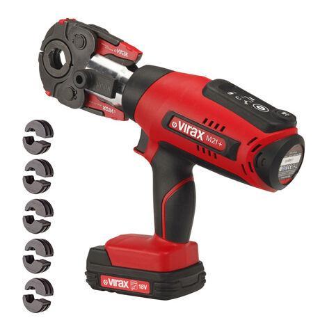 Presse à sertir Viper® M21+ VIRAX + pince mère + 2 batteries + inserts au choix-V Ø12-15-18-22-28 - 253516