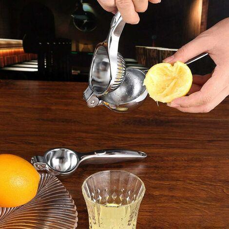 Presse Citron Manuel, Presse-Agrumes Manuel en Acier Inoxydable Pince à Citron pour Orange Agrume Lime Presse-Fruits pour Ménage Cuisine Bar Lave-Vaisselle