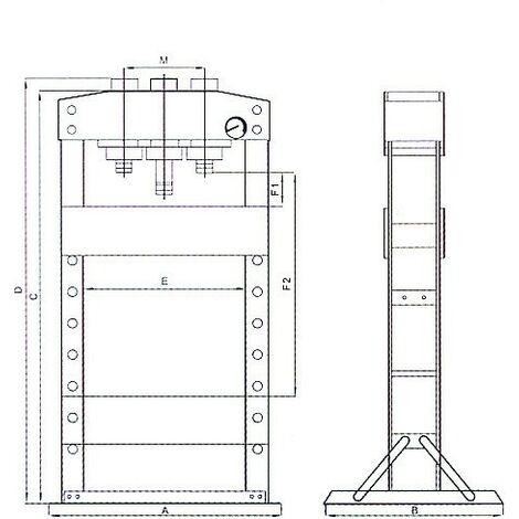 PRESSE D'ATELIER 10T manuelle- DRAKKAR TOOLS - S10532