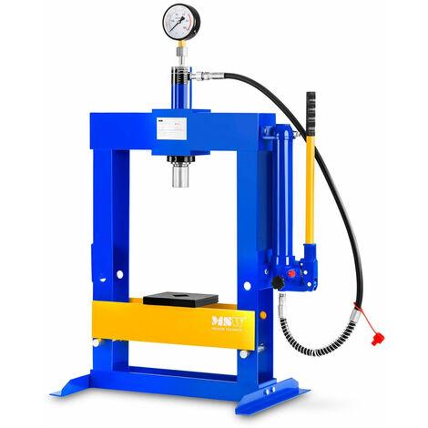 Presse d'atelier hydropneumatique 10 tonnes de pression bleu - Bleu
