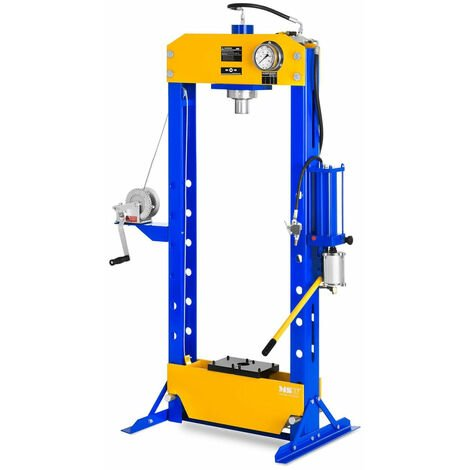 Presse d'atelier hydropneumatique réglable en hauteur sur 7 positions 50 tonnes de pression