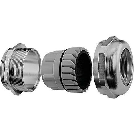 Presse etoupe metrique laiton nickele, M32, IP68 emballage : 20 pieces