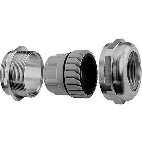 Presse etoupe metrique laiton nickele, M50, IP68 emballage : 5 pieces