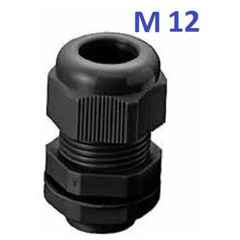 Presse étoupe noir M12 - M16 - M20 - M25 - Lot de 5 ou 10 ou 20 ou 50 pièces
