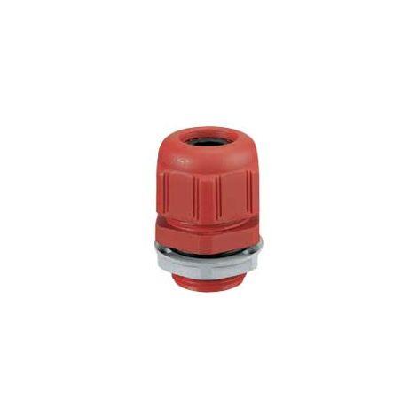 Presse-étoupe plastique- IP68- ISO 16- pour boîte Plexo incendie- rouge RAL 3000
