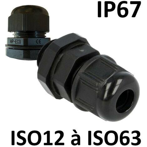 """main image of """"Presse étoupes noir ISO IP67 + contre écrou"""""""