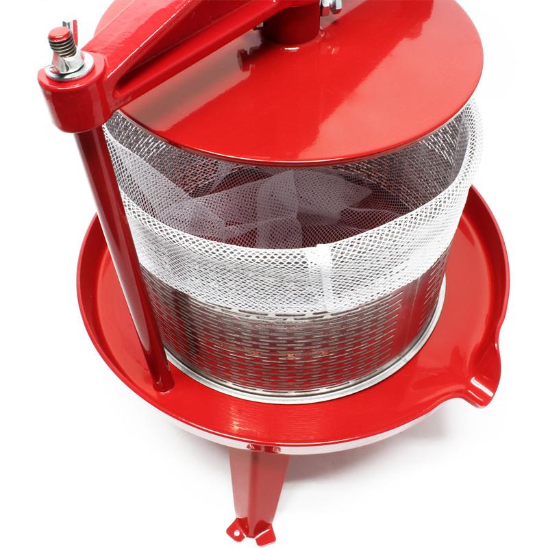 Presse-Fruits /à vis en Acier Inoxydable 9 litres Facile /à Nettoyer