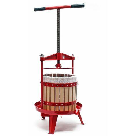 Presse-fruits à vis en bois 12 litres Facile à nettoyer